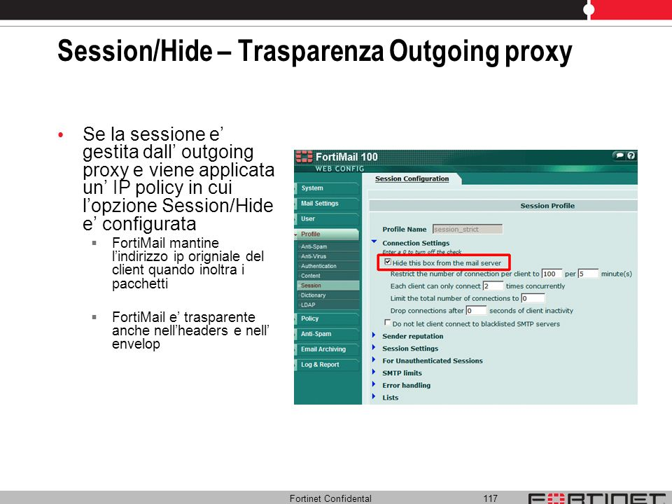 Session/Hide – Trasparenza Outgoing proxy