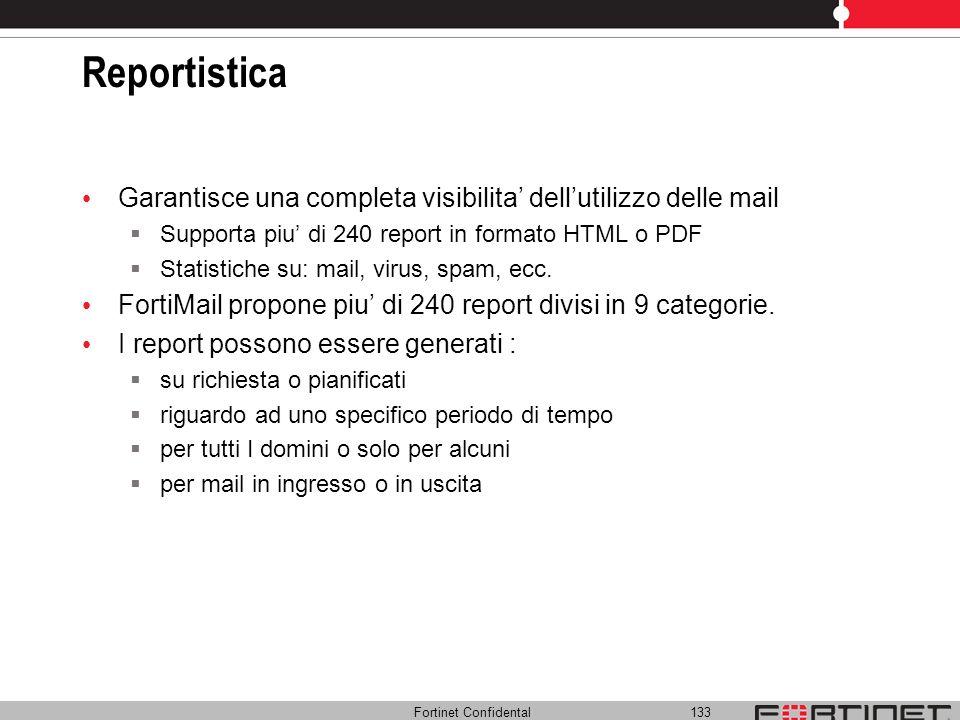 Reportistica Garantisce una completa visibilita' dell'utilizzo delle mail. Supporta piu' di 240 report in formato HTML o PDF.