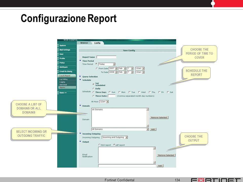 Configurazione Report