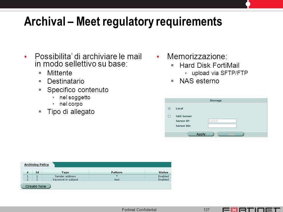 Archival – Meet regulatory requirements