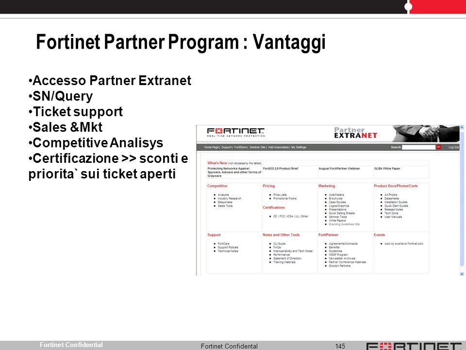 Fortinet Partner Program : Vantaggi
