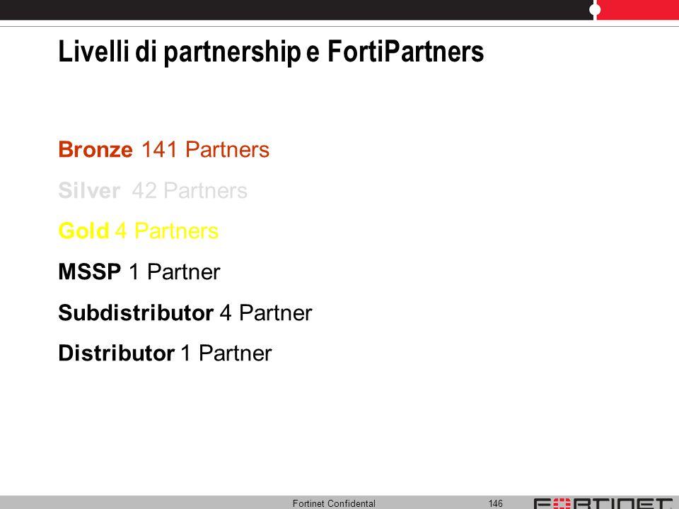 Livelli di partnership e FortiPartners