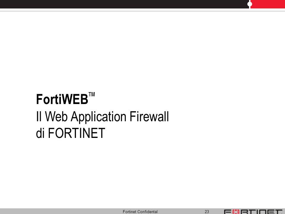 Il Web Application Firewall di FORTINET