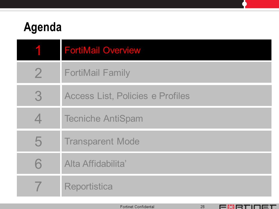 1 2 3 4 5 6 7 Agenda FortiMail Overview FortiMail Family