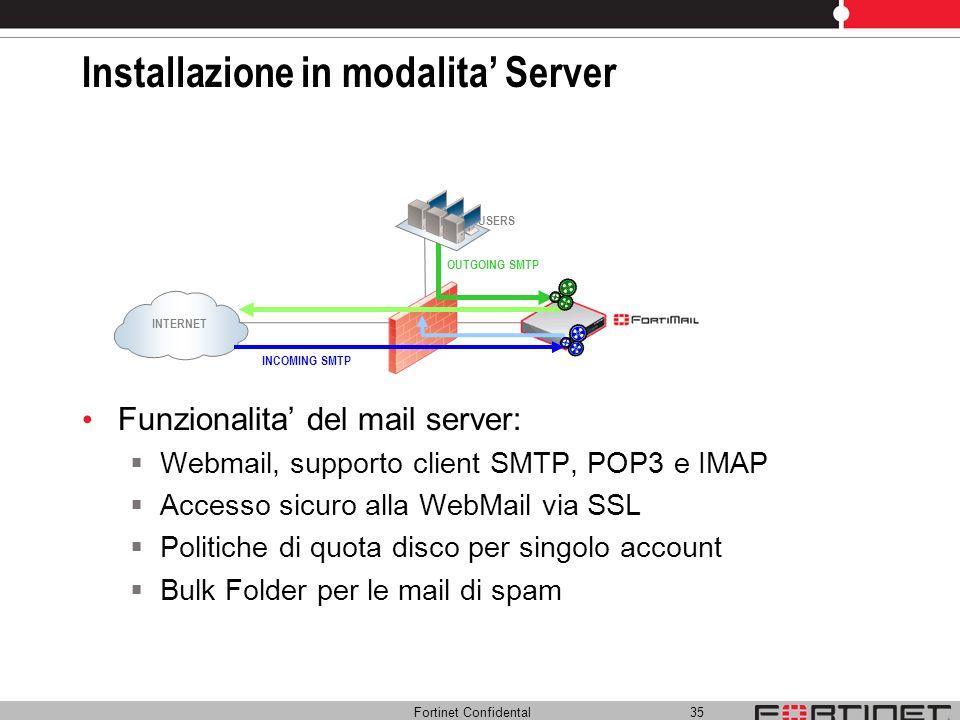 Installazione in modalita' Server
