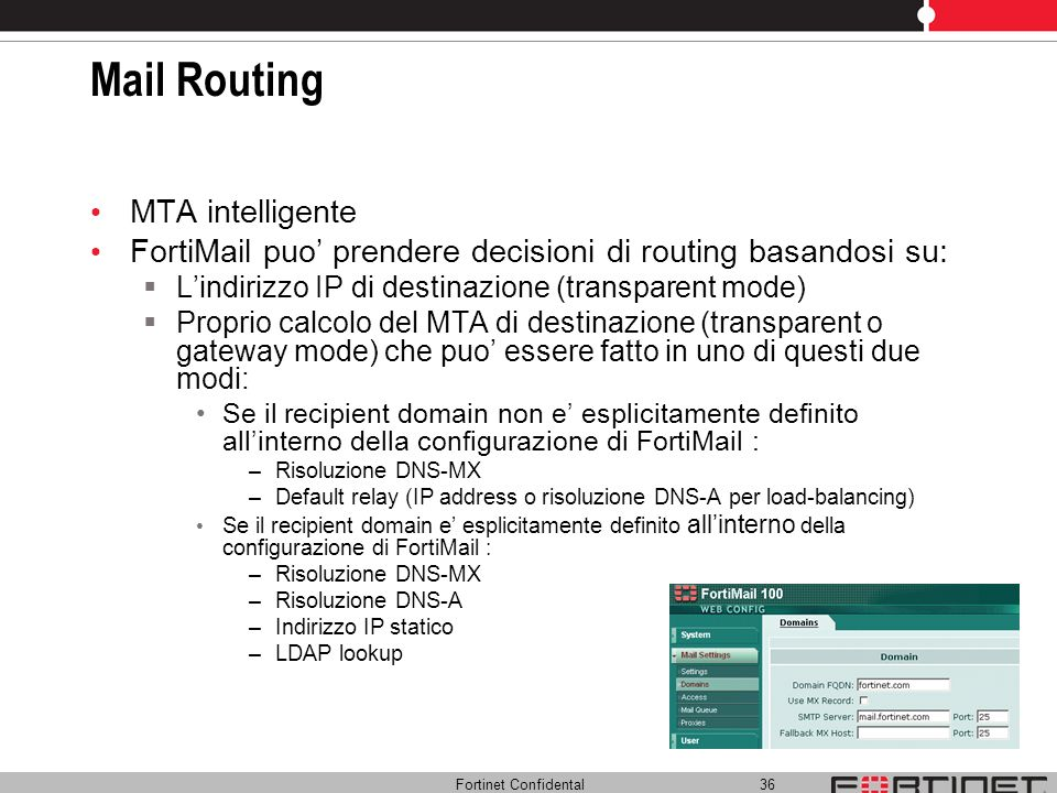 Mail Routing MTA intelligente