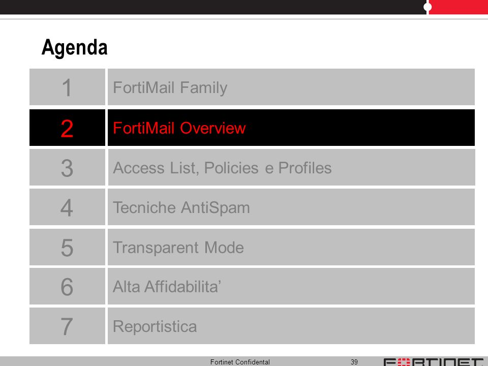 1 2 3 4 5 6 7 Agenda FortiMail Family FortiMail Overview
