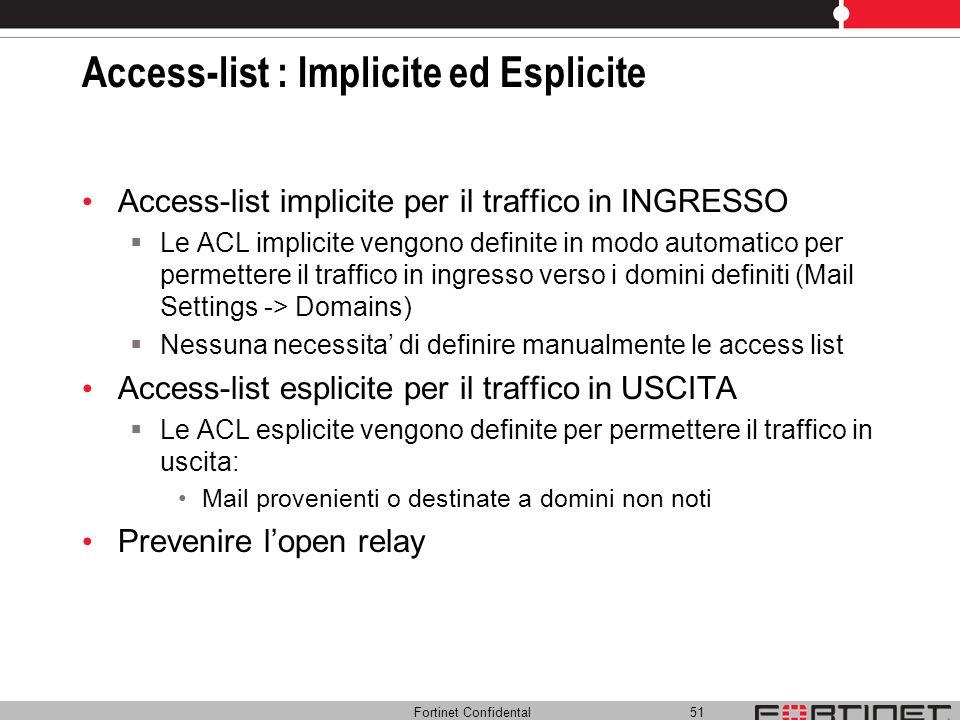 Access-list : Implicite ed Esplicite
