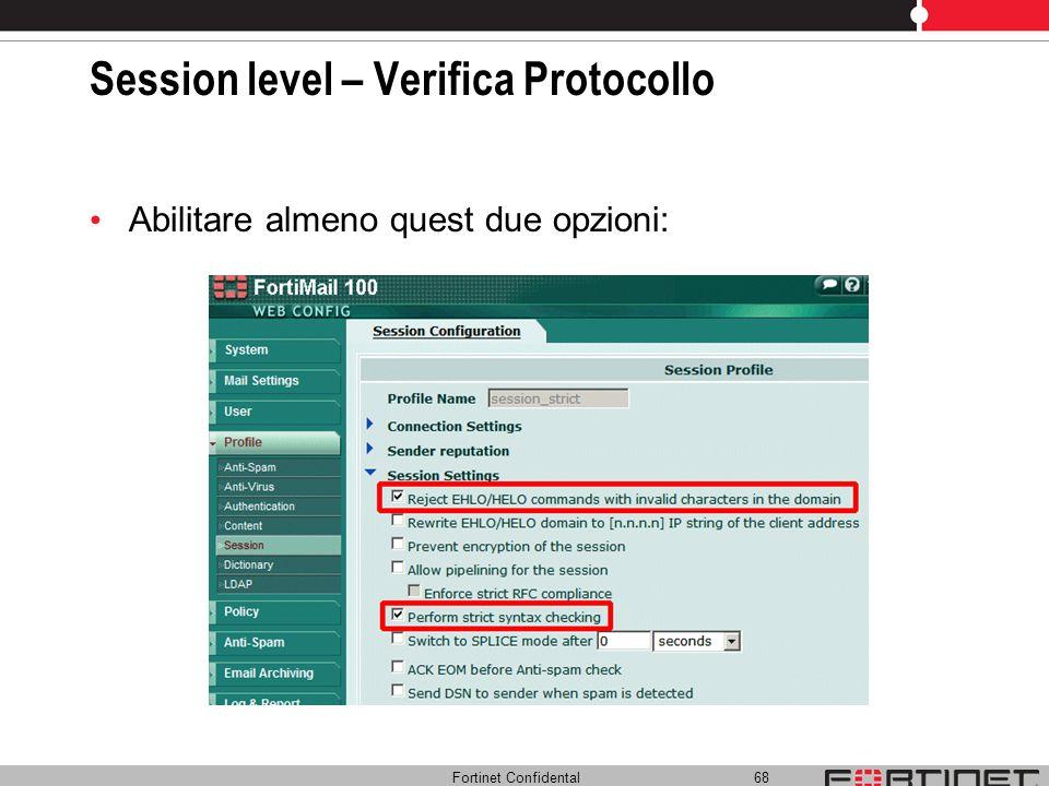 Session level – Verifica Protocollo