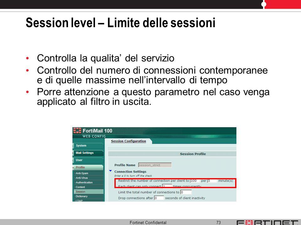 Session level – Limite delle sessioni