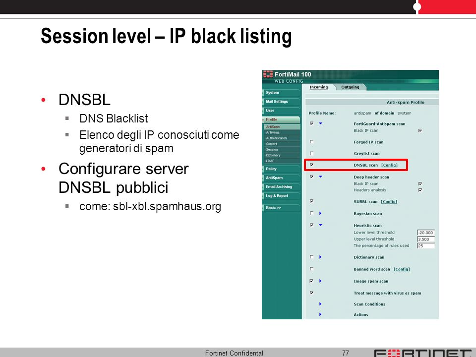 Session level – IP black listing
