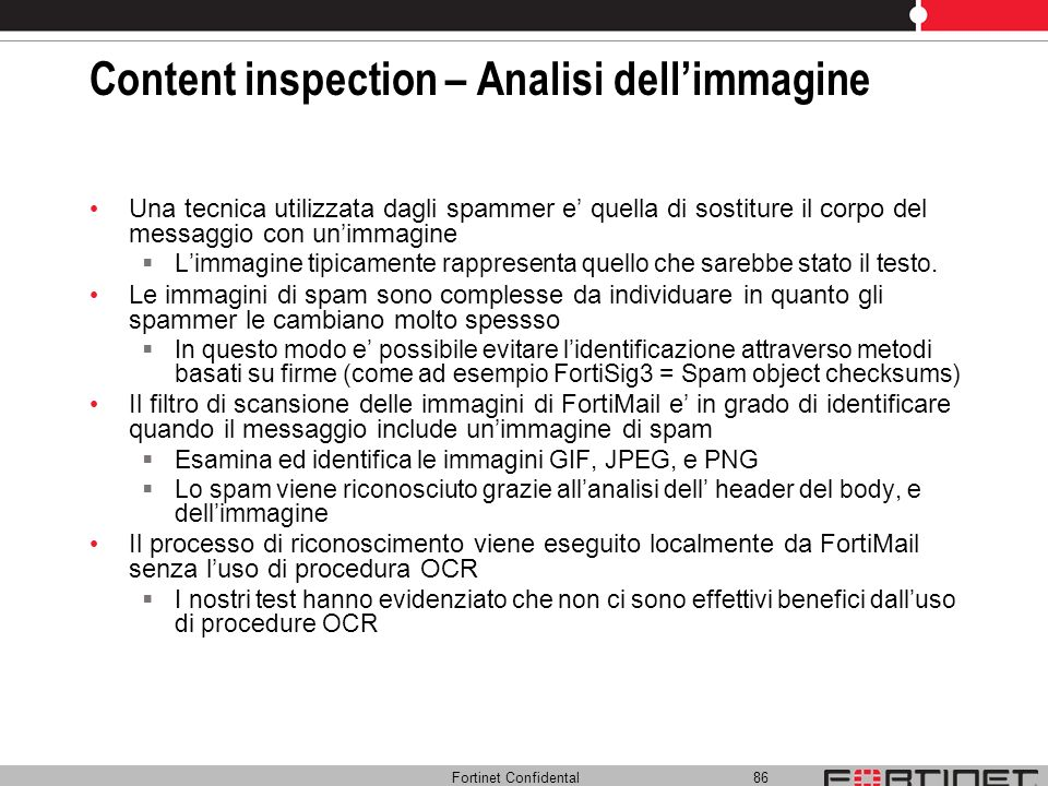 Content inspection – Analisi dell'immagine