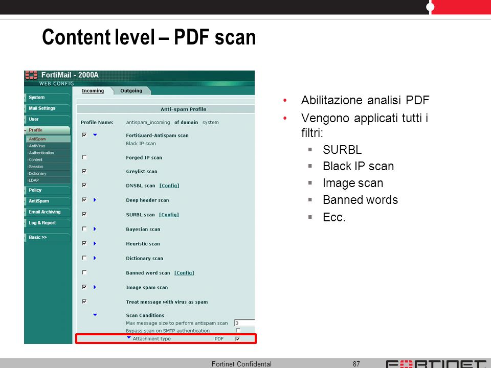 Content level – PDF scan