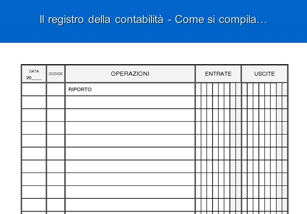 Il registro della contabilità - Come si compila…