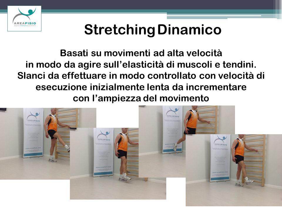 Stretching Dinamico Basati su movimenti ad alta velocità