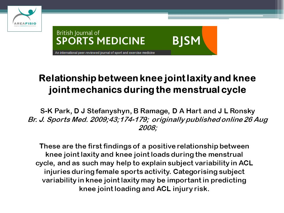 Relationship between knee joint laxity and knee