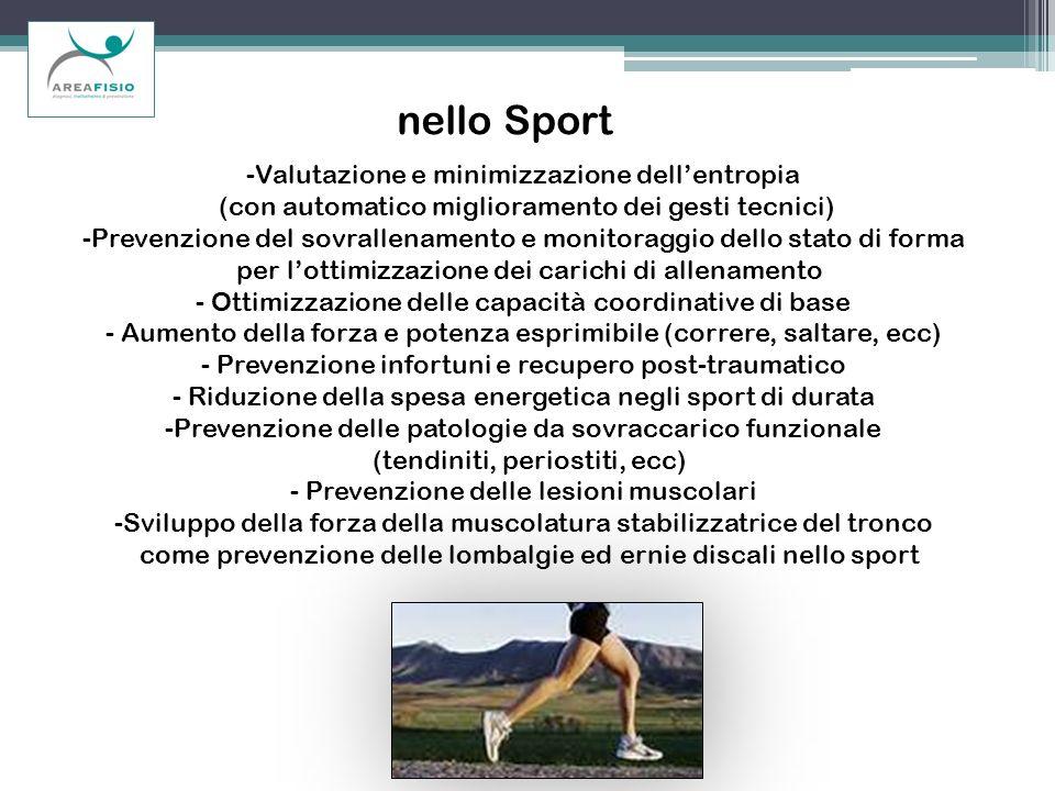 nello Sport Valutazione e minimizzazione dell'entropia