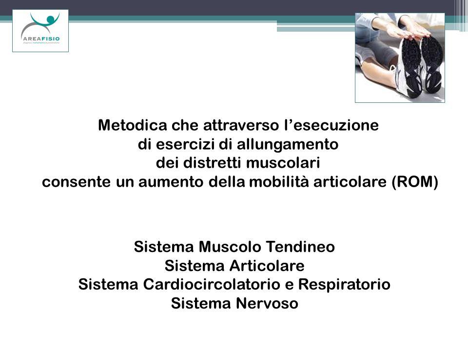 Metodica che attraverso l'esecuzione di esercizi di allungamento