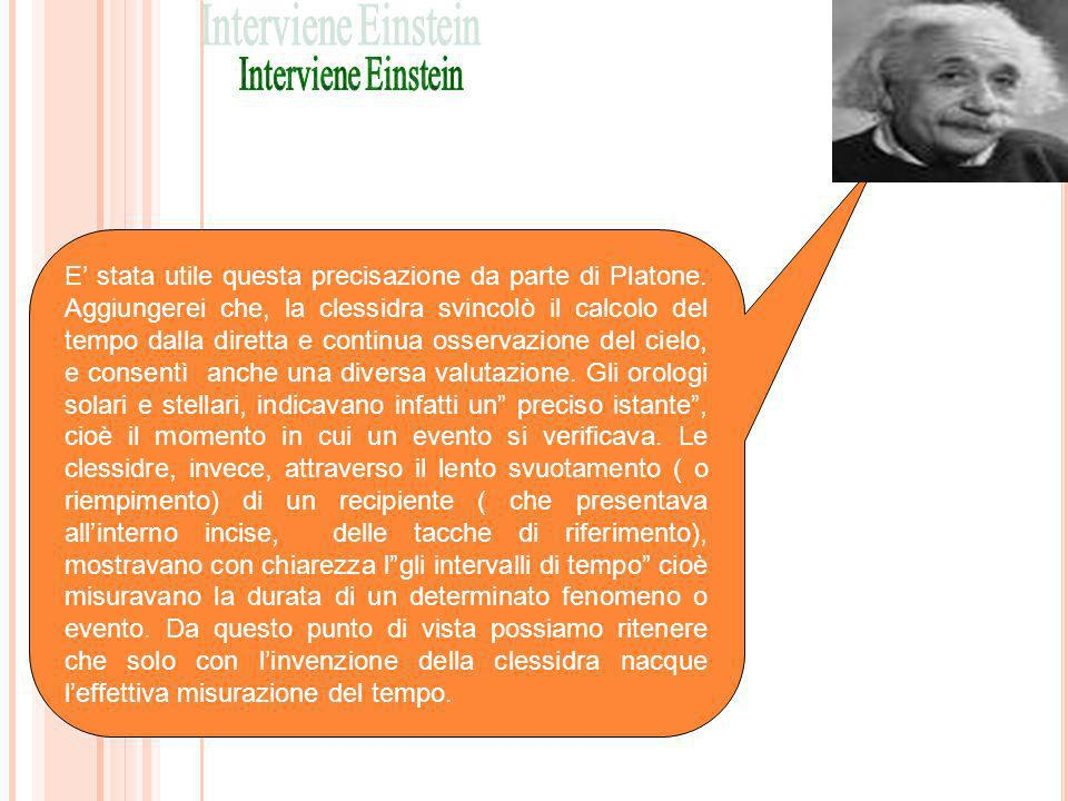 Interviene Einstein