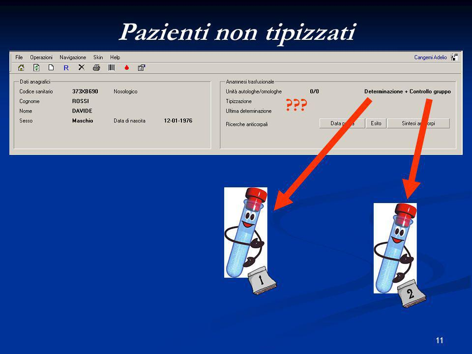 Pazienti non tipizzati