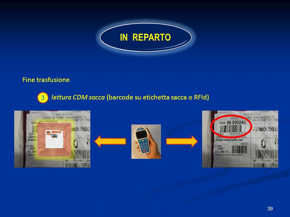 IN REPARTO Fine trasfusione