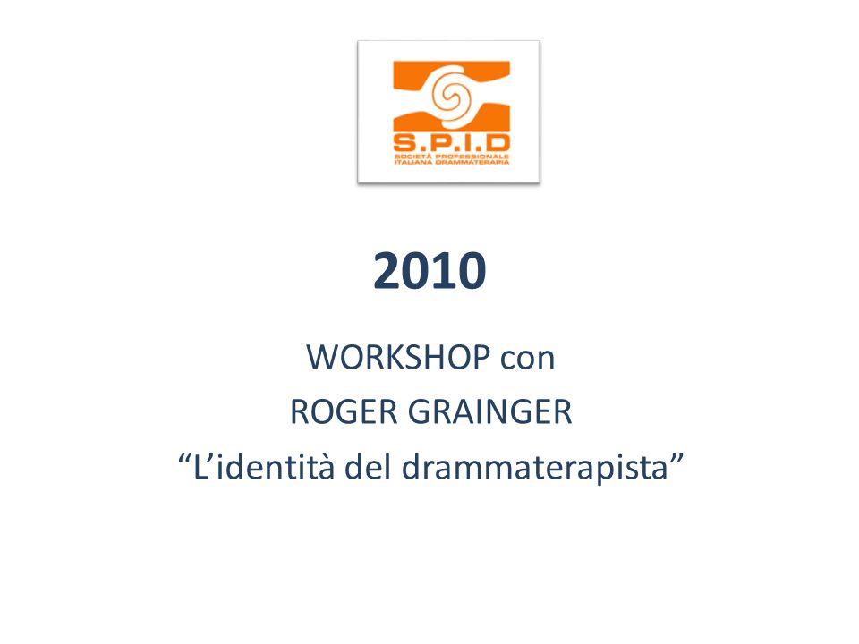 WORKSHOP con ROGER GRAINGER L'identità del drammaterapista