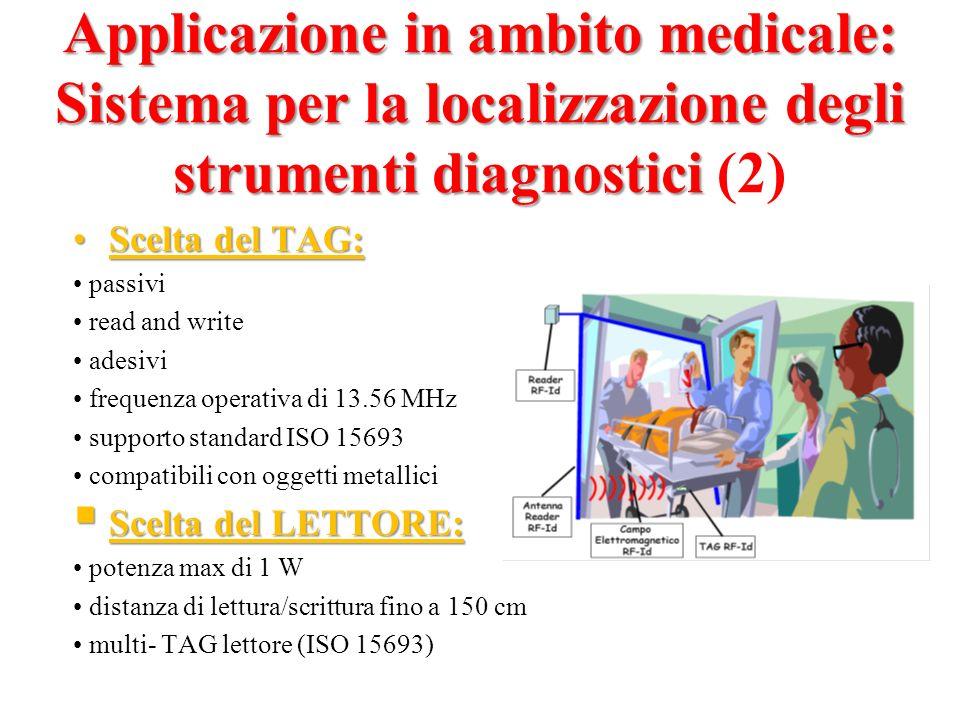 Applicazione in ambito medicale: Sistema per la localizzazione degli strumenti diagnostici (2)