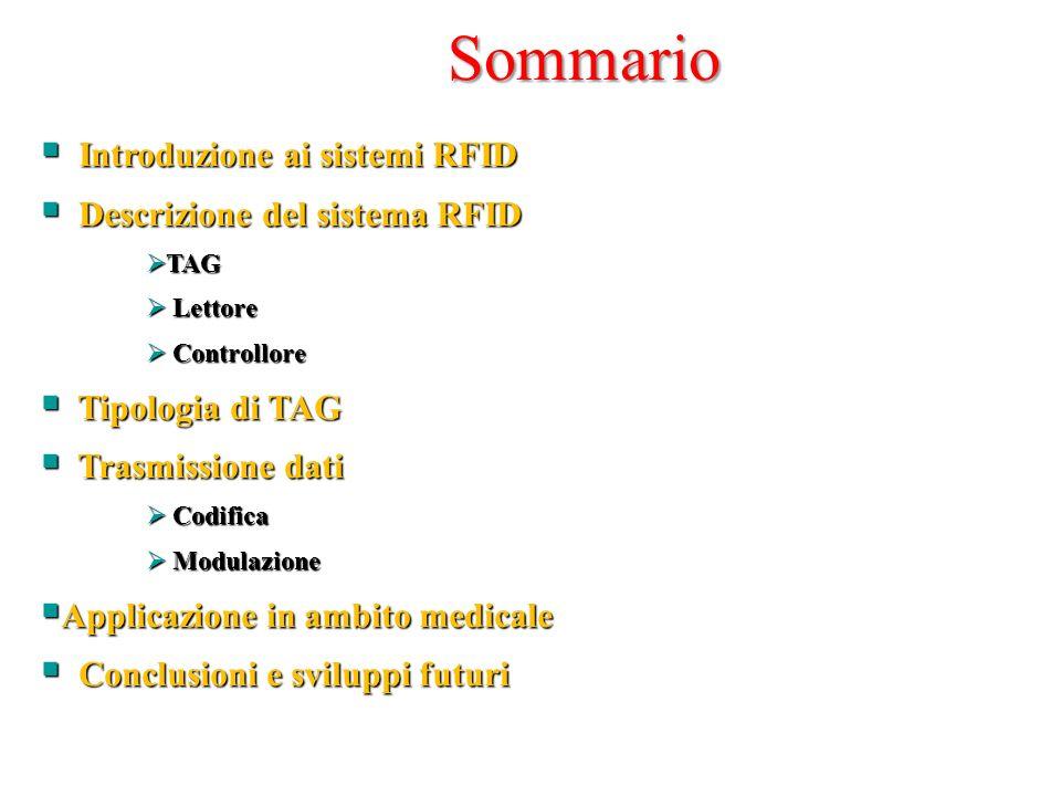 Sommario Introduzione ai sistemi RFID Descrizione del sistema RFID