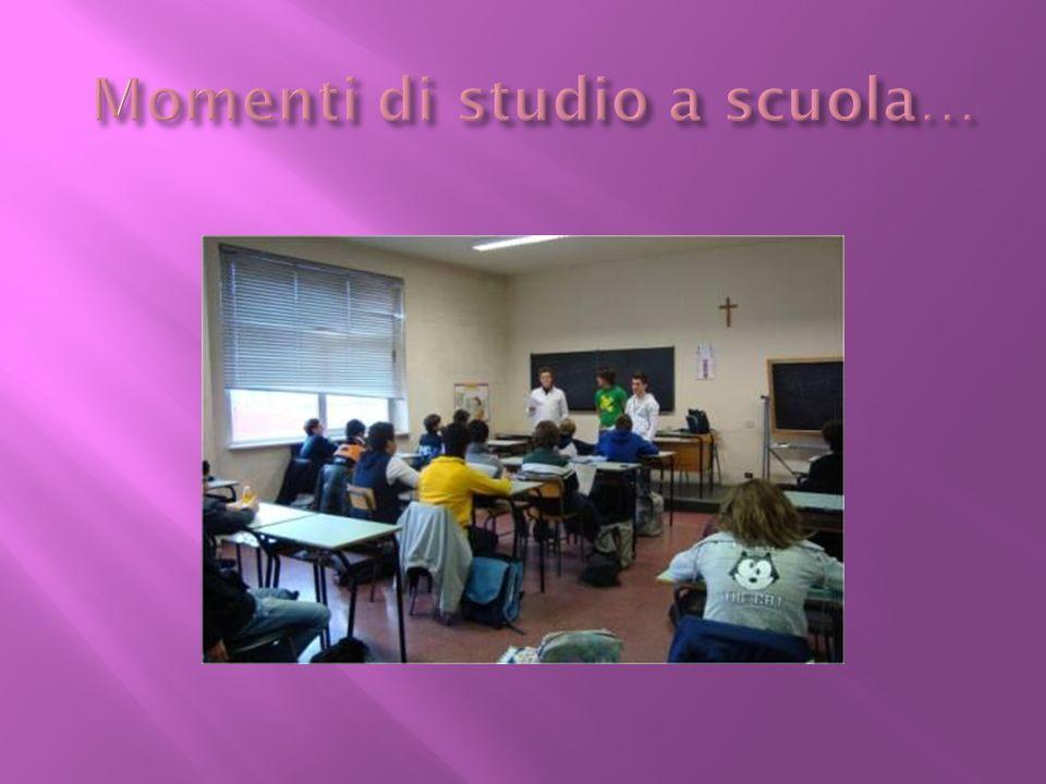 Momenti di studio a scuola…