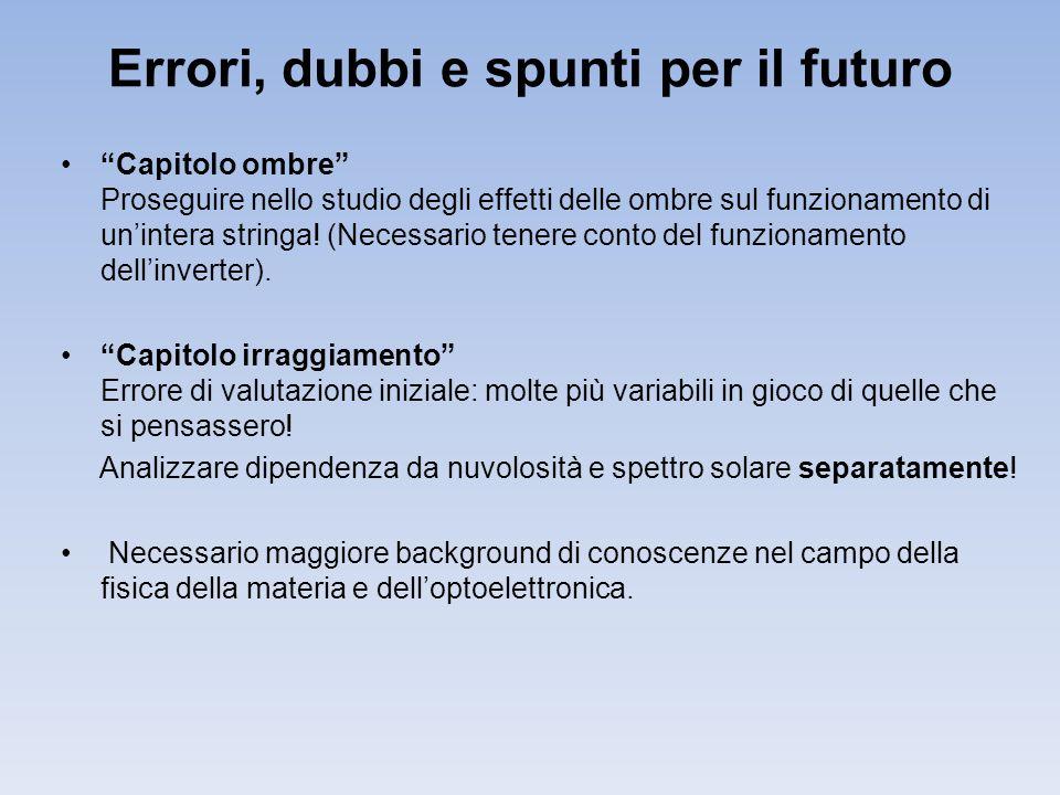 Errori, dubbi e spunti per il futuro