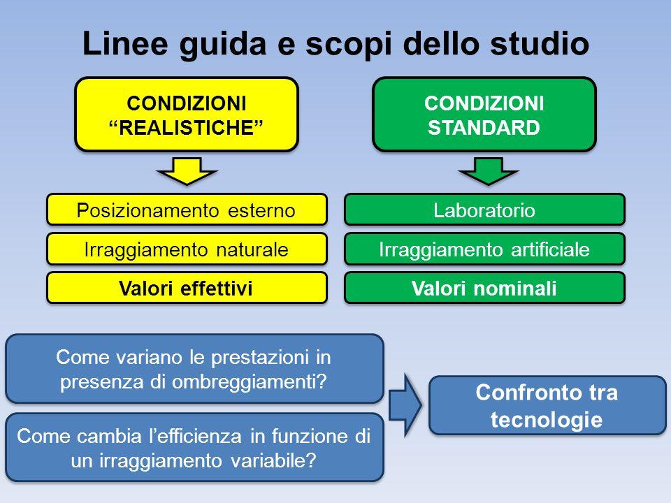 Linee guida e scopi dello studio