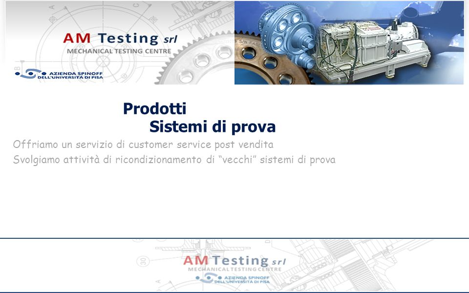 Prodotti Sistemi di prova