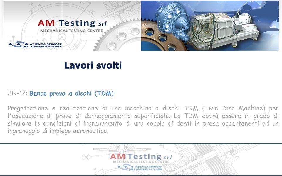 Lavori svolti JN-12: Banco prova a dischi (TDM)