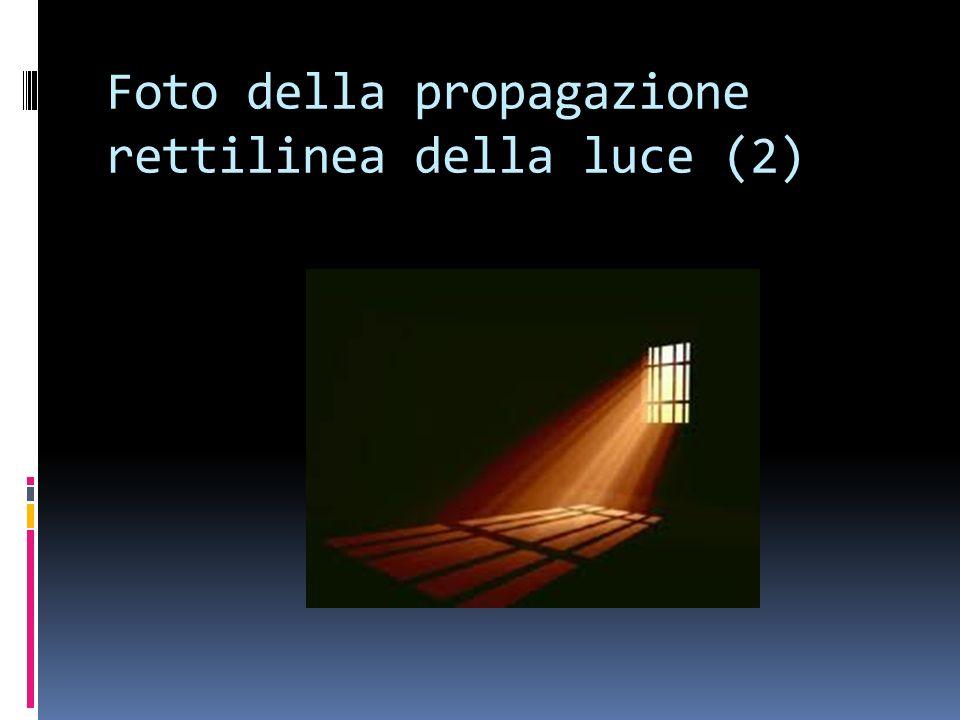 Foto della propagazione rettilinea della luce (2)