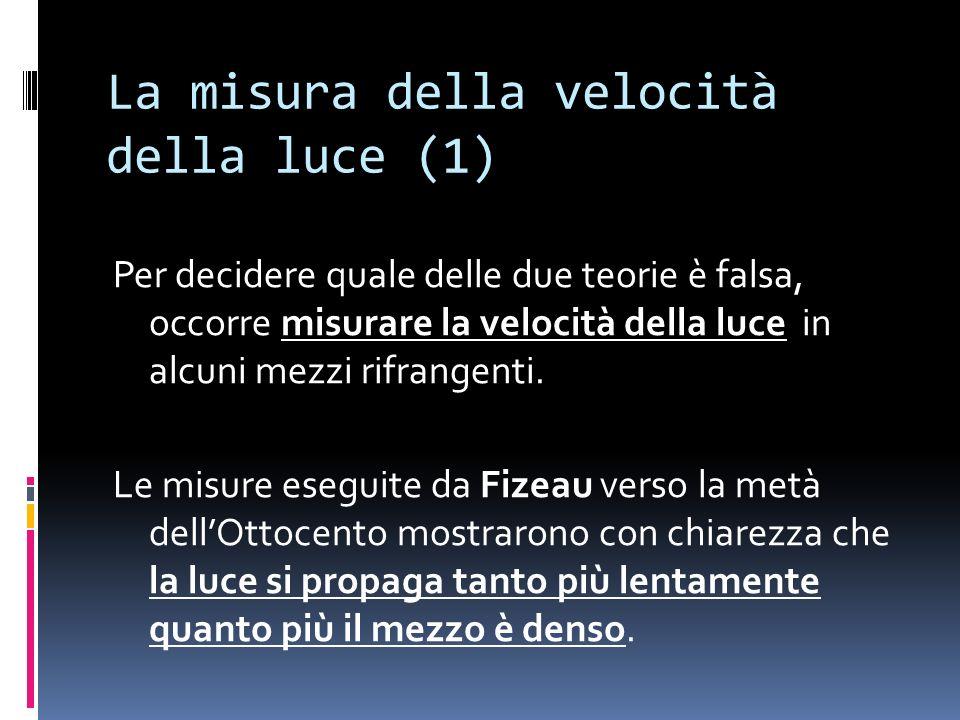 La misura della velocità della luce (1)