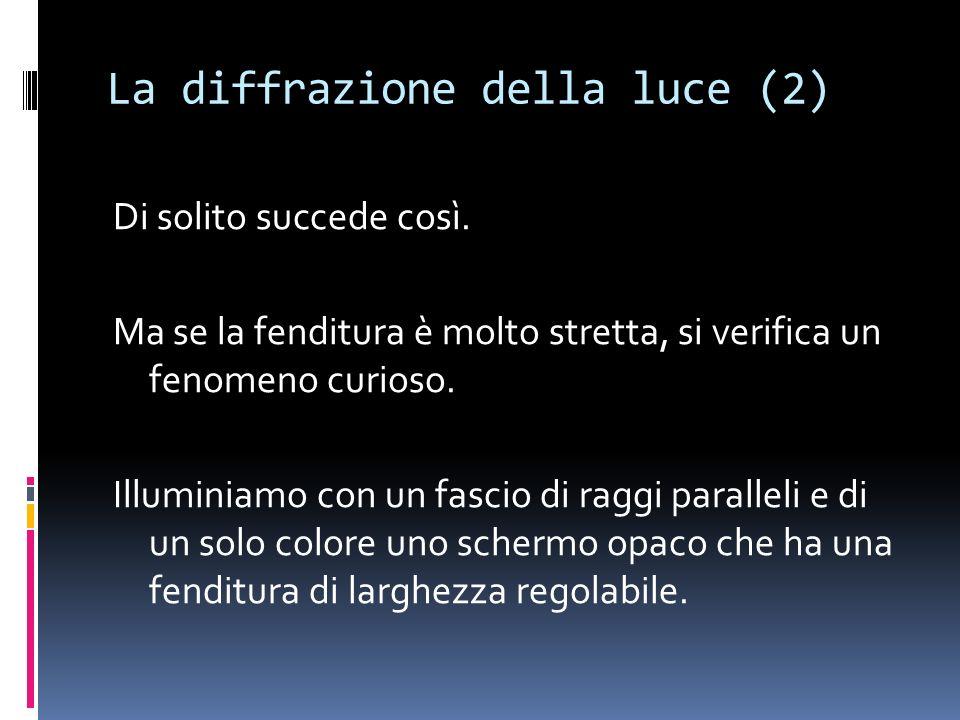 La diffrazione della luce (2)