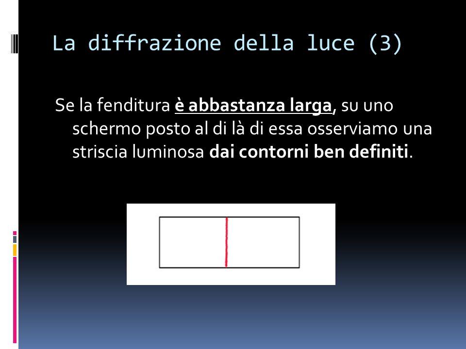 La diffrazione della luce (3)