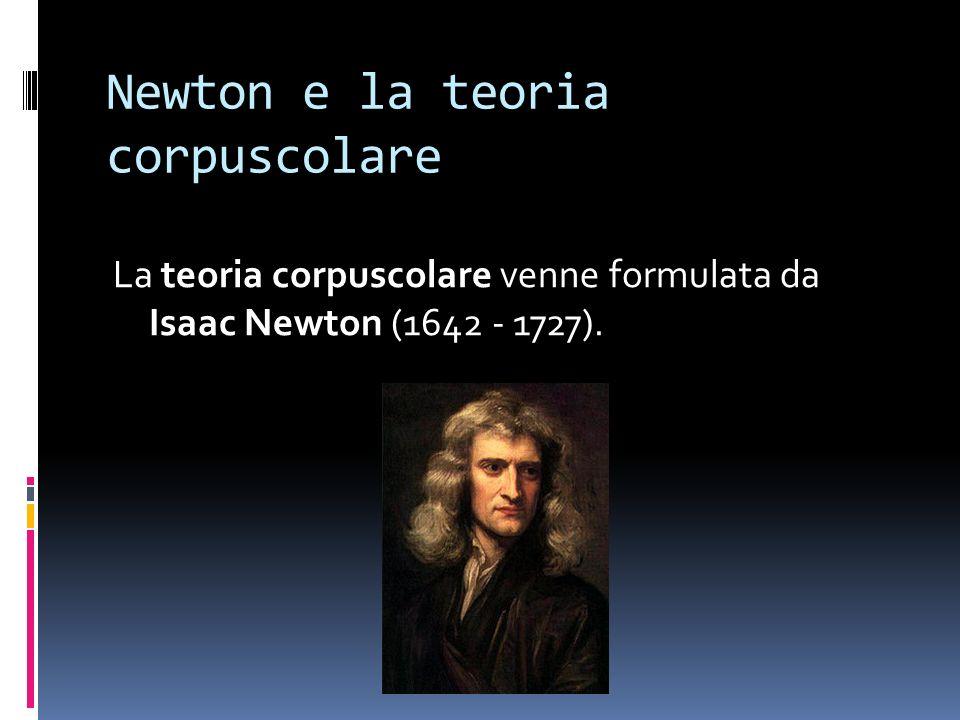 Newton e la teoria corpuscolare