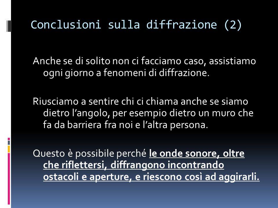 Conclusioni sulla diffrazione (2)
