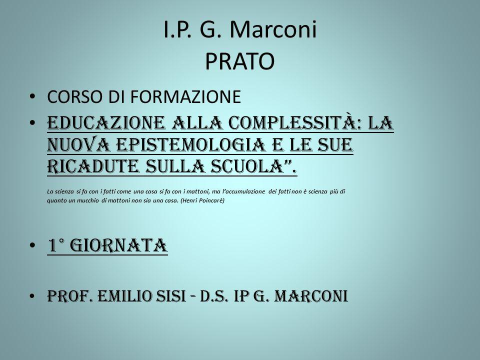 I.P. G. Marconi PRATO CORSO DI FORMAZIONE