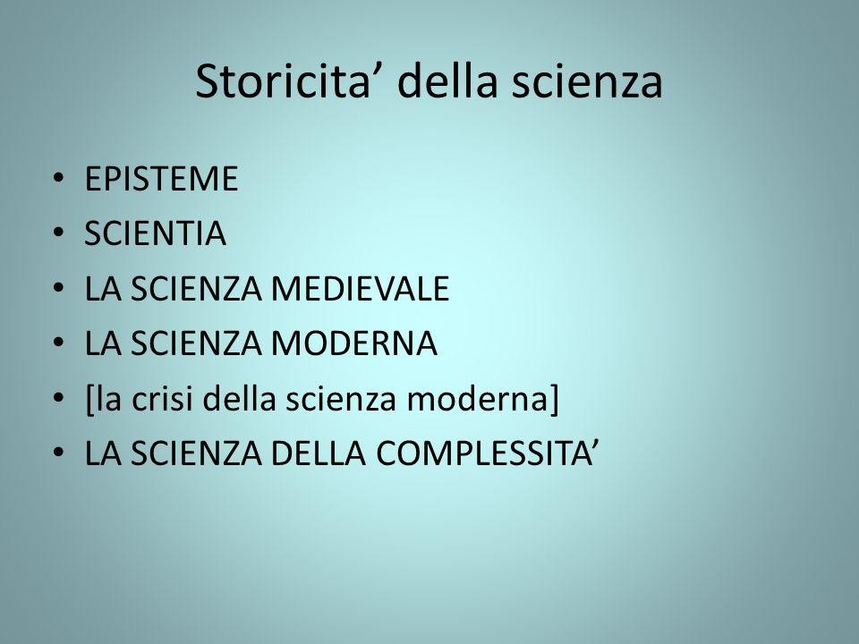 Storicita' della scienza