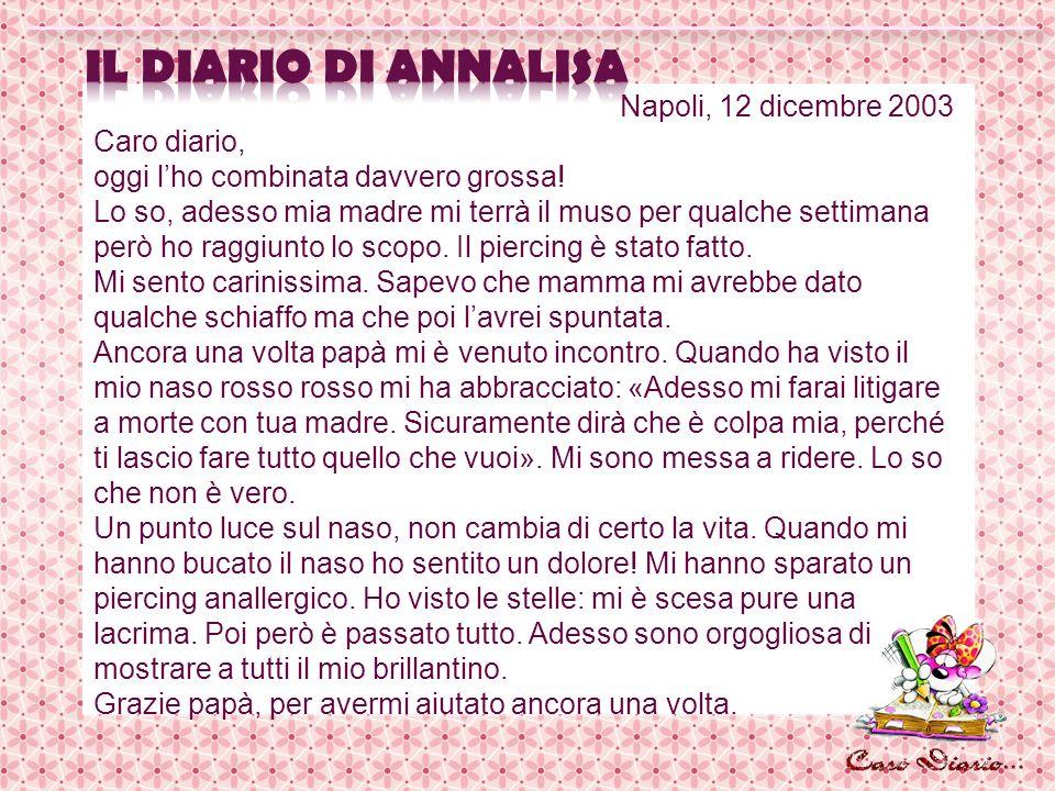 il diario di AnnaLISA Napoli, 12 dicembre 2003 Caro diario,