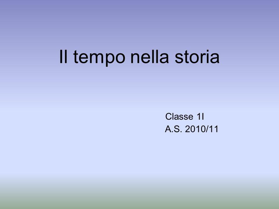 Il tempo nella storia Classe 1I A.S. 2010/11