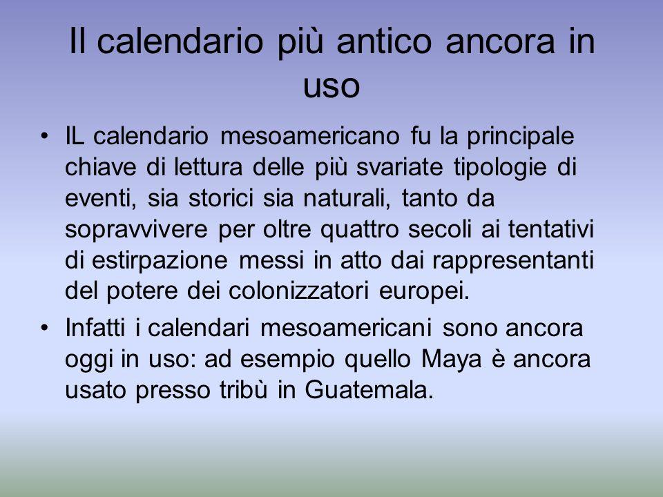 Il calendario più antico ancora in uso