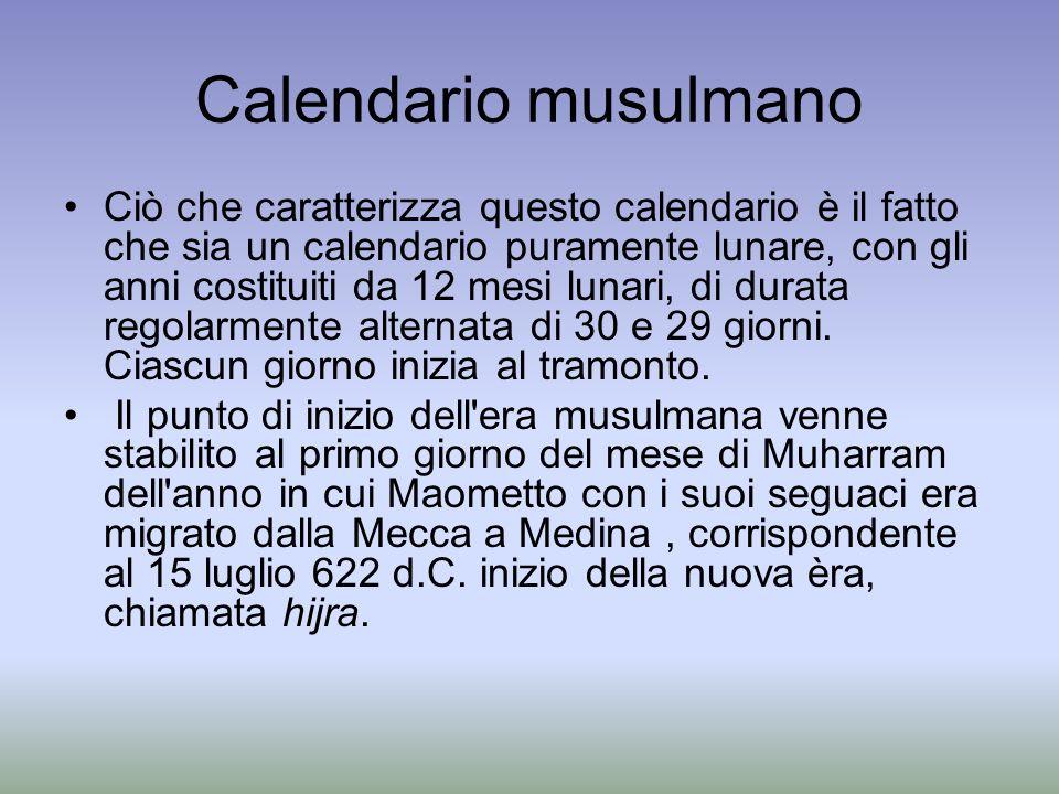 Calendario musulmano