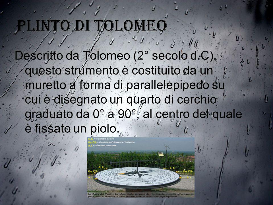 PLINTO DI TOLOMEO