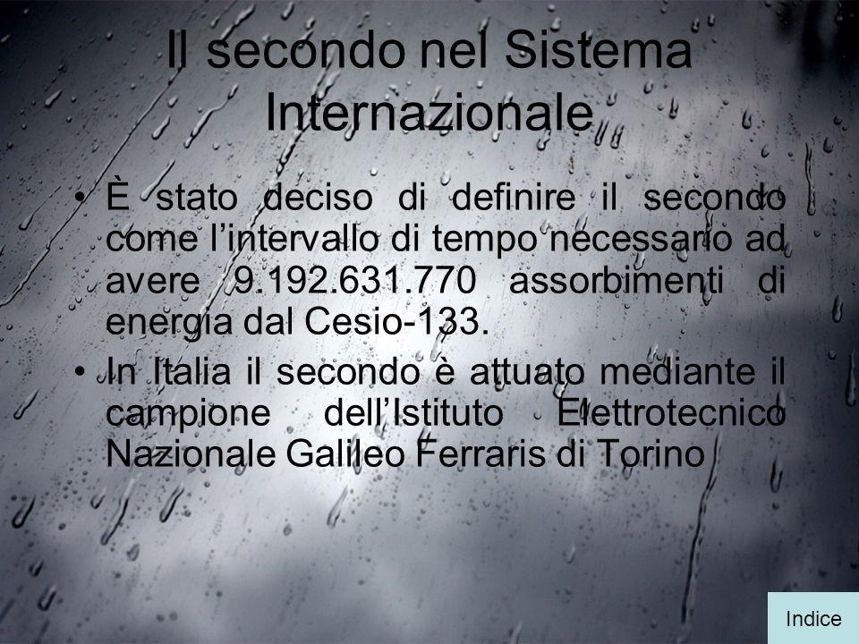 Il secondo nel Sistema Internazionale