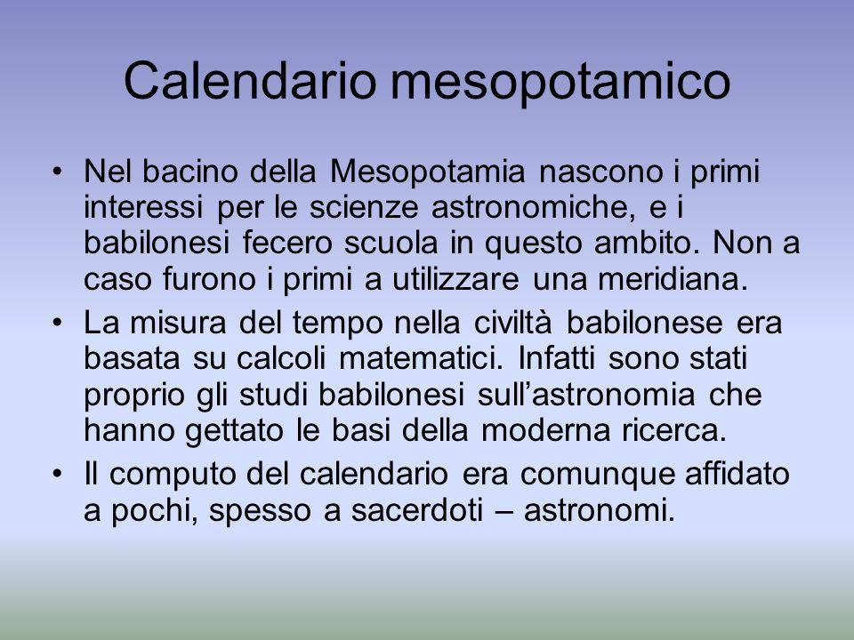 Calendario mesopotamico