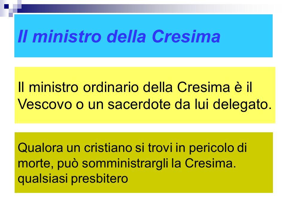 Il ministro della Cresima