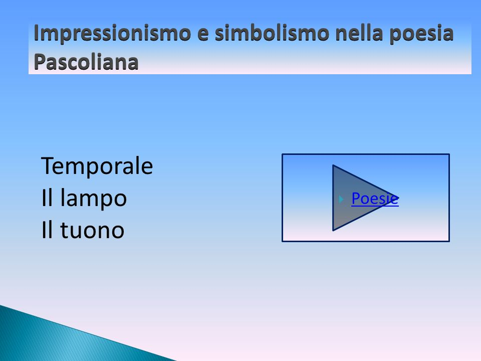 Impressionismo e simbolismo nella poesia Pascoliana